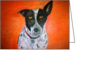 Dog Prints Pastels Greeting Cards - Homer The Cattle Dog Greeting Card by Matthew Floor