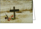 Graveyards Greeting Cards - Honor Greeting Card by Jeff  Swan