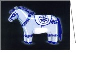 India Ceramics Greeting Cards - Horse Sculpture Greeting Card by Renu K
