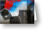 Mick Anderson Greeting Cards - Hot Chevy Greeting Card by Mick Anderson
