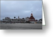 Celebrities Photo Greeting Cards - Hotel Del Coronado At Dusk Greeting Card by Viktor Savchenko