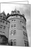 Photographers Fine Art Greeting Cards - Hotel Frontenac Quebec City Greeting Card by Ann Powell
