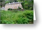 Forest Landscape Greeting Cards - House on a Hill Greeting Card by    Michael Glenn