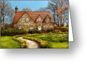 Storybook Greeting Cards - House - Westfield NJ - The estates  Greeting Card by Mike Savad