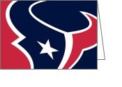 Hockey Painting Greeting Cards - Houston Texans Greeting Card by Tony Rubino