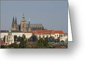 Cityspace Greeting Cards - Hradcany - Cathedral of St Vitus on the Prague castle Greeting Card by Michal Boubin