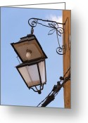 Rabat Greeting Cards - Hungry street light Greeting Card by Renato Sensibile