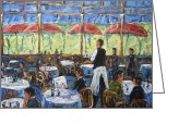 Artiste Greeting Cards - Impresionnist Cafe by Prankearts Greeting Card by Richard T Pranke