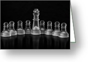 Chess Piece Greeting Cards - In the Middle Greeting Card by Arisha Singh