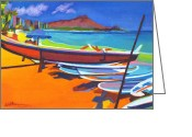 Diamond Head Greeting Cards - In the Summertime When the Weather is Hot Greeting Card by Tanya Filichkin