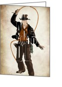 Original Drawing Greeting Cards - Indiana Jones VOL 2 - Harrison Ford Greeting Card by Ayse Toyran