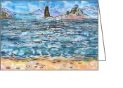 Regina Valluzzi Greeting Cards - Inner Islands Greeting Card by Regina Valluzzi