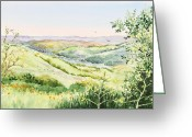 Inspiration Point Greeting Cards - Inspiration Point Orinda California Greeting Card by Irina Sztukowski