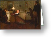 Rape Greeting Cards - Interior by Edgar Degas Greeting Card by Nomad Art And  Design