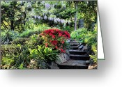 Great Point Greeting Cards - Into the Garden Greeting Card by JC Findley
