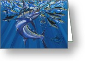 Marlin Azul Greeting Cards - Intruder Greeting Card by Carey Chen