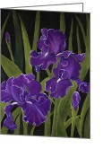 Decor Pastels Greeting Cards - Irises Greeting Card by Anastasiya Malakhova