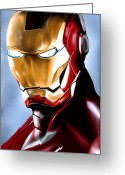 Ironman Digital Art Greeting Cards - IronMan Greeting Card by Luis Padilla