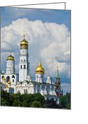Archangel Greeting Cards - Ivan the Great Bell Tower of Moscow Kremlin Greeting Card by Alexander Senin