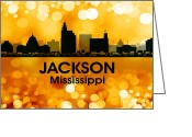 Capital Mixed Media Greeting Cards - Jackson MS 3 Greeting Card by Angelina Vick