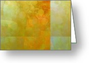 Ann Powell Greeting Cards - Jade and Carnelian abstract art  Greeting Card by Ann Powell