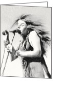 Angela Stanton Greeting Cards - Janis Joplin Greeting Card by Angela A Stanton