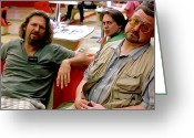 John Goodman Greeting Cards - Jeff Bridges John Goodman and Steve Buscemi @ The Big Lebowski Greeting Card by Gabriel T Toro
