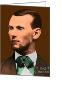 Outlaw Greeting Cards - Jesse James 20130515 Greeting Card by Wingsdomain Art and Photography