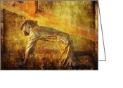 Way Of The Cross Greeting Cards - Jesus Falls Again Via Dolorosa 7 Greeting Card by Lianne Schneider