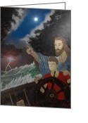 World Healer Greeting Cards - Jesus Greeting Card by Michael Rucker