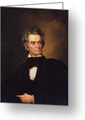 Featured Greeting Cards - John C Calhoun  Greeting Card by War Is Hell Store