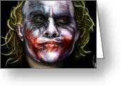 Movies Greeting Cards - Joker Greeting Card by Vinny John