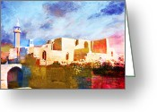 Rabat Painting Greeting Cards - Jordan 02 Greeting Card by Catf