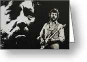 Music Icon Greeting Cards - Journeyman Greeting Card by IDGoodall