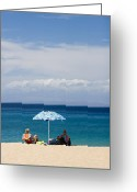 Senior Greeting Cards - Kaanapali Beach in Maui Greeting Card by David Smith
