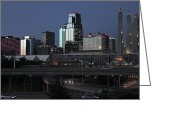 Kansas City Greeting Cards - Kansas City at Dusk Greeting Card by Patricio Lazen