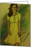 England Diana Greeting Cards - Kate Middleton Greeting Card by Christy Brammer