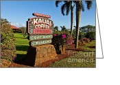 Scott Pellegrin Greeting Cards - Kauai Coffee Greeting Card by Scott Pellegrin