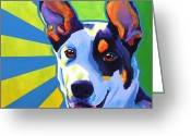 Featured Painting Greeting Cards - Kelpie - Oakey Greeting Card by Alicia VanNoy Call