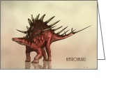 Extinct Greeting Cards - Kentrosaurus Dinosaur Greeting Card by Bob Orsillo
