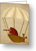 Bird Framed Prints Greeting Cards - Kevs Airship Greeting Card by Marlene Watson
