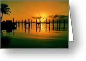 Florida Sunset Greeting Cards - Key Largo Evening Greeting Card by Benjamin Yeager