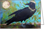 Creation Greeting Cards - King Crow Greeting Card by Blenda Tyvoll