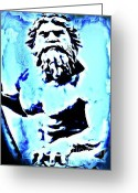 Greek Sculpture Digital Art Greeting Cards - King Neptune Greeting Card by John Malone