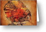 Bird Framed Prints Greeting Cards - Kiwi Greeting Card by Marlene Watson