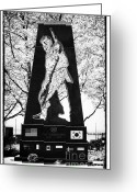 Battery Park Greeting Cards - Korean War Memorial 1990s Greeting Card by John Rizzuto