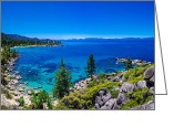 Lake Greeting Cards - Lake Tahoe Summerscape Greeting Card by Scott McGuire