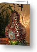 Light Ceramics Greeting Cards - Lamp IDEA Greeting Card by Qasir Z Khan