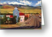 Old Mills Greeting Cards - Lander 2000 Greeting Card by Art West