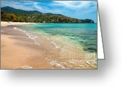 Shoreline Greeting Cards - Lanta Island Greeting Card by Adrian Evans